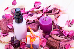 Aroma wellness cosmetic beauty objects Stock Photo