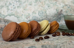 Aromas and flavors of France. Macarons Stock Photography
