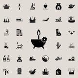 aromat świeczek ikona Szczegółowy set zdrój ikony Premii ilości graficznego projekta znak Jeden inkasowe ikony dla stron internet Obrazy Stock