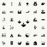 aromat świeczek ikona Szczegółowy set zdrój ikony Premii ilości graficznego projekta znak Jeden inkasowe ikony dla stron internet Obrazy Royalty Free