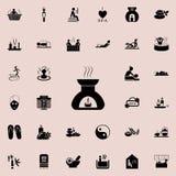 aromat świeczek ikona Szczegółowy set zdrój ikony Premii ilości graficznego projekta znak Jeden inkasowe ikony dla stron internet Obraz Stock