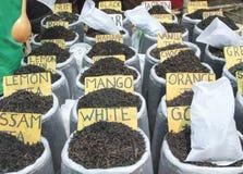 Aromat herbata przy rynkiem Fotografia Stock