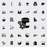 aromat nafciana ikona Szczegółowy set zdrój ikony Premii ilości graficznego projekta znak Jeden inkasowe ikony dla stron internet Obrazy Stock