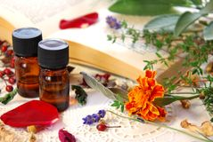 Aromaterapia con le erbe fotografia stock