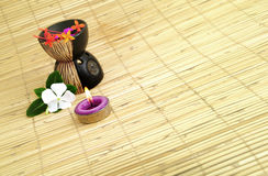aromatherapic stearinljus Royaltyfria Foton
