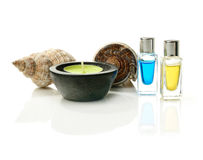 Aromatherapie u. Oberteile Stockbild