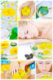 aromatherapy中心放松温泉 免版税库存图片