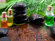 aromatherapy仍然生活温泉处理 库存图片
