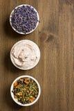 aromatherapy对象温泉 免版税库存图片