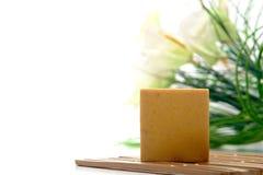 aromatherapy棒浴自然肥皂 库存图片