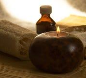 aromatherapy概念温泉 仍然1寿命 库存照片