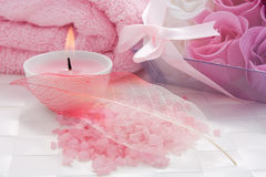 aromatherapy温泉处理 免版税库存照片