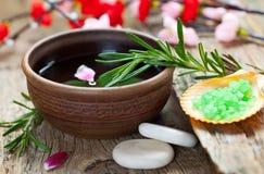 aromatherapy温泉 库存图片