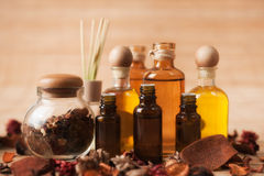 aromatherapy用品 库存照片