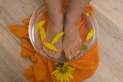 aromatherapy英尺 免版税库存图片