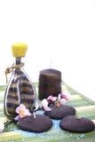 aromatherapy蜡烛花 库存照片