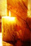 aromatherapy蜡烛 免版税图库摄影