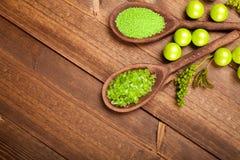 aromatherapy άλας λουτρών ανασκόπησ& Στοκ φωτογραφία με δικαίωμα ελεύθερης χρήσης