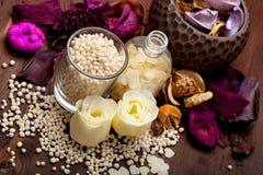 aromatherapy άλας λουτρών Στοκ Φωτογραφίες