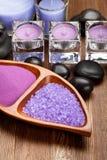 aromatherapy άλας λουτρών Στοκ Εικόνες