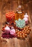 aromatherapy άλας πετρελαίου Στοκ Φωτογραφίες