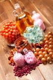 aromatherapy άλας πετρελαίων λουτ& Στοκ φωτογραφία με δικαίωμα ελεύθερης χρήσης