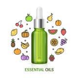 aromatherapy έννοια διάνυσμα Στοκ Εικόνα