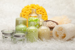 aromatherapy αλατισμένο σφουγγάρι & Στοκ φωτογραφία με δικαίωμα ελεύθερης χρήσης