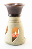 aromatherapy απομονωμένος λαμπτήρα&sigm Στοκ φωτογραφία με δικαίωμα ελεύθερης χρήσης