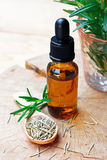 Aromatherapy απόσπασμα πετρελαίου της Rosemary Στοκ φωτογραφία με δικαίωμα ελεύθερης χρήσης