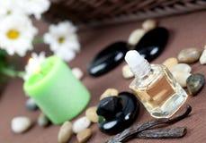 aromatherapy βανίλια πετρελαίου Στοκ Φωτογραφία