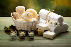 aromatherapy εργαλεία μασάζ Στοκ Φωτογραφίες