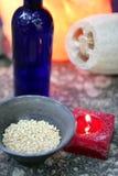 aromatherapy θαλάσσιο κόκκινο σφουγγάρι κεριών Στοκ Φωτογραφίες