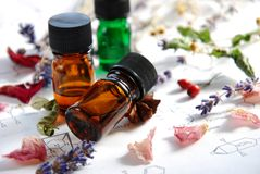 Aromatherapy και επιστήμη Στοκ φωτογραφία με δικαίωμα ελεύθερης χρήσης