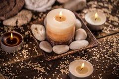 aromatherapy κεριά Στοκ Εικόνα