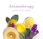Aromatherapy με τη βιολέτα Στοκ Εικόνες