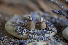 Aromatherapy με lavender - φωτογραφία αποθεμάτων Στοκ φωτογραφία με δικαίωμα ελεύθερης χρήσης