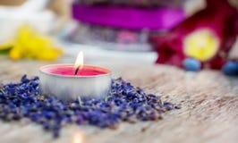 Aromatherapy με lavender Στοκ φωτογραφία με δικαίωμα ελεύθερης χρήσης