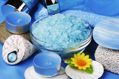 aromatherapy μπλε SPA Στοκ Φωτογραφίες
