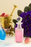 Aromatherapy - ξηρές λουλούδια και φίλτρα Στοκ Φωτογραφία