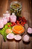 aromatherapy ορυκτό άλας Στοκ Εικόνες