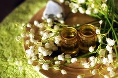 Aromatherapy/ουσιαστικό πετρέλαιο Στοκ Φωτογραφίες