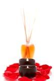 aromatherapy πετρέλαια κεριών Στοκ Φωτογραφίες