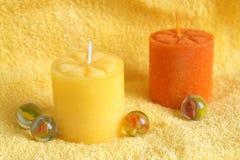 aromatherapy πετσέτα κεριών Στοκ φωτογραφία με δικαίωμα ελεύθερης χρήσης