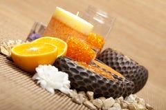 aromatherapy πορτοκαλί άλας λουτρ Στοκ εικόνες με δικαίωμα ελεύθερης χρήσης