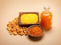 aromatherapy πορτοκαλί άλας λουτρ Στοκ φωτογραφία με δικαίωμα ελεύθερης χρήσης