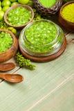 aromatherapy πράσινα μεταλλεύματα Στοκ Εικόνες