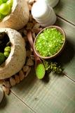 aromatherapy πράσινα μεταλλεύματα Στοκ Φωτογραφία