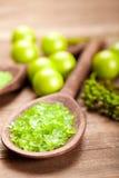 aromatherapy πράσινο άλας Στοκ εικόνες με δικαίωμα ελεύθερης χρήσης