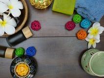 aromatherapy, σαπούνι, και κερί Στοκ Εικόνες